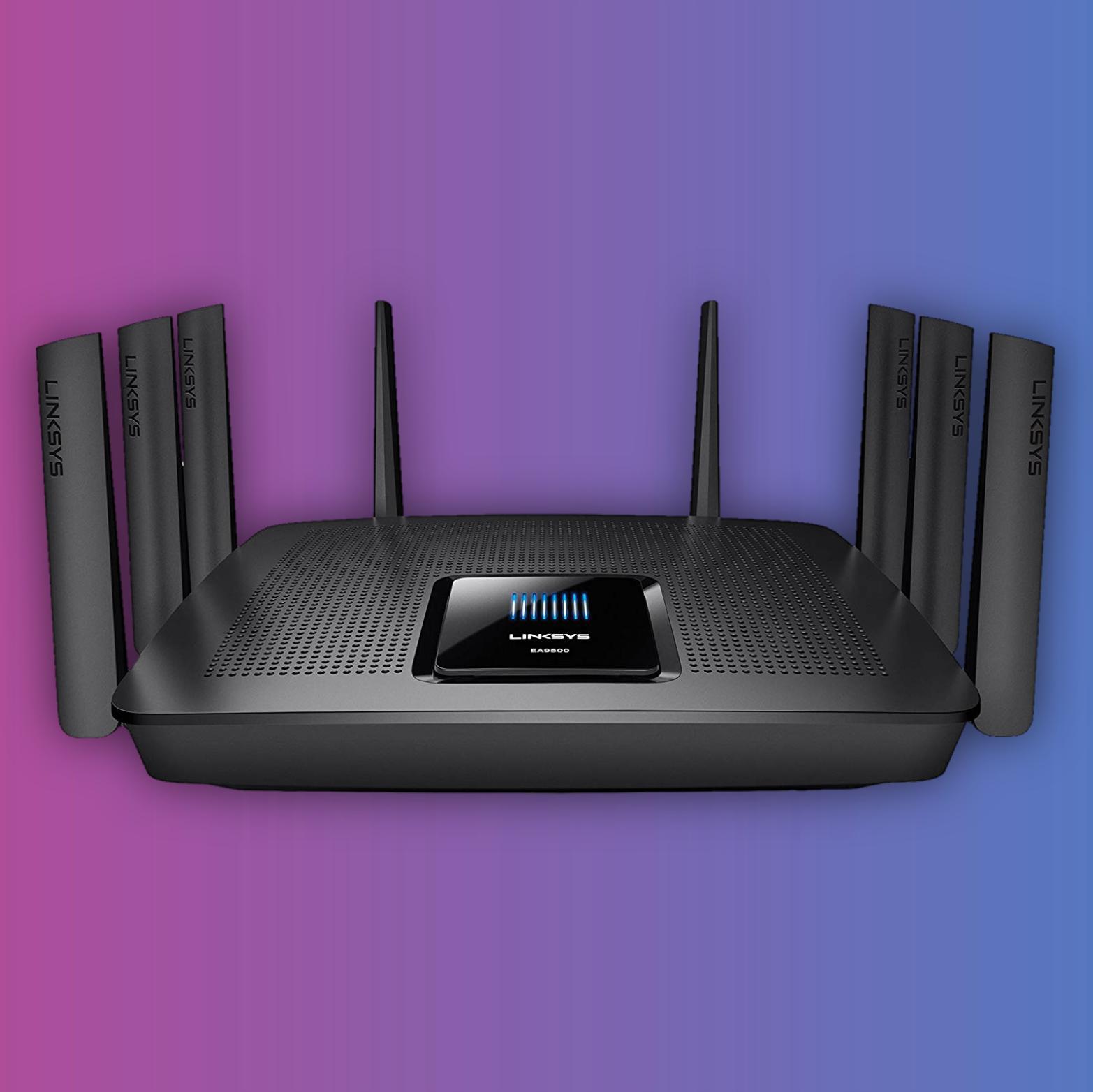 Linksys EA9500 AC5400: WiFi Router (Tri-Band, 1,4GHz Prozessor, 8 Gigabit Anschlüsse, 8 Antennen)