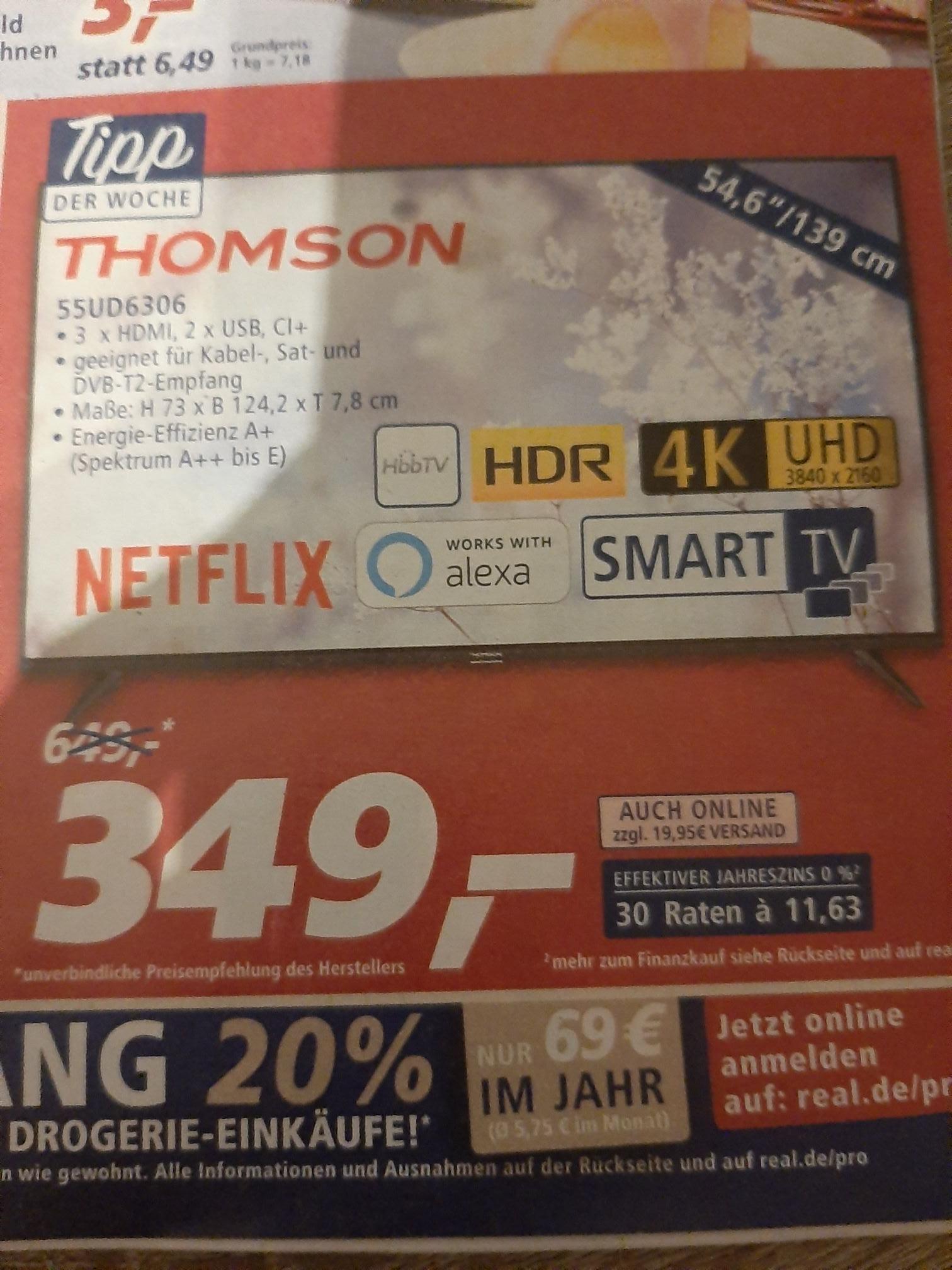 real,- Tipp der Woche Thomson 55UD6306 Fernseher