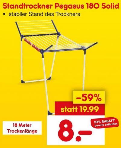 [Lokal - Netto Marken-Discount Bremen, Minden, Wiesbaden, Neunkirchen] Leifheit Standtrockner Pegasus Solid 180 für 8€ ab 28. bzw. 29.Januar