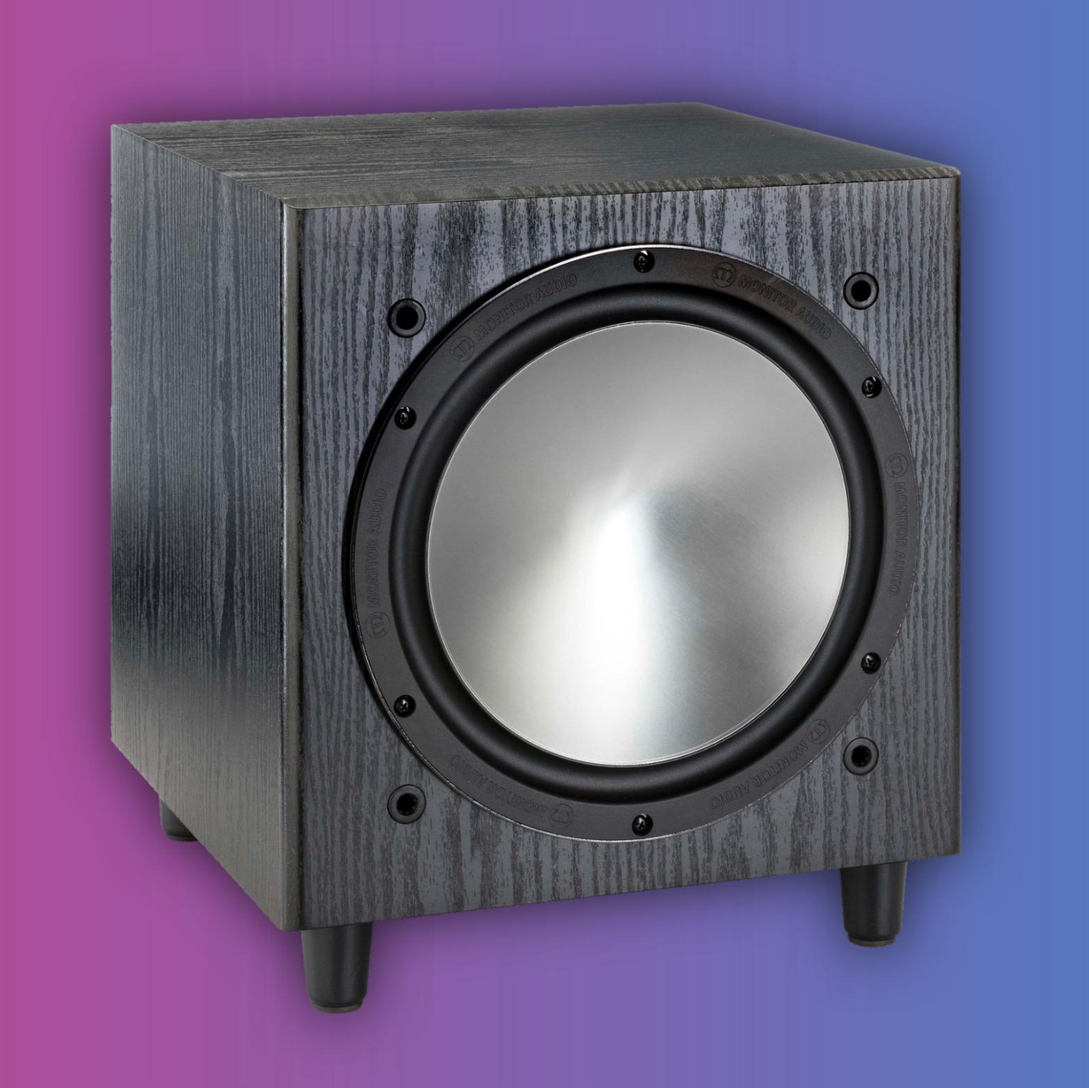 Monitor Audio Bronze W10: Subwoofer (220W RMS, 25,4cm Tieftöner, 20 kOhm)