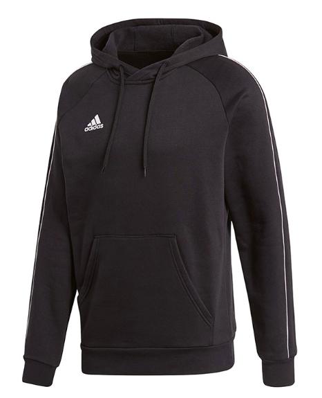 adidas Core 18 Kapuzensweatshirt in Schwarz (Gr XS bis 3XL) - versandkostenfrei
