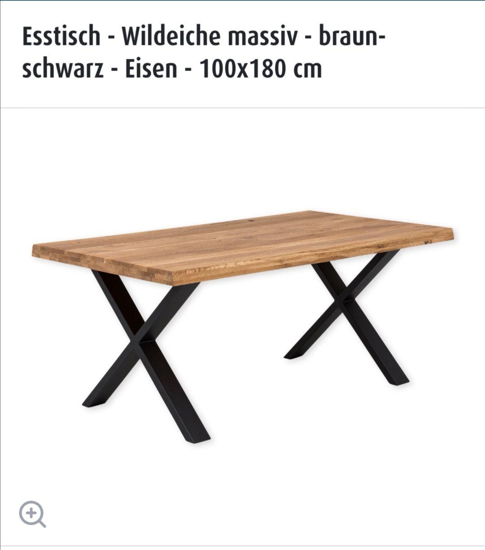 Esstisch - Wildeiche massiv - 100 x 180