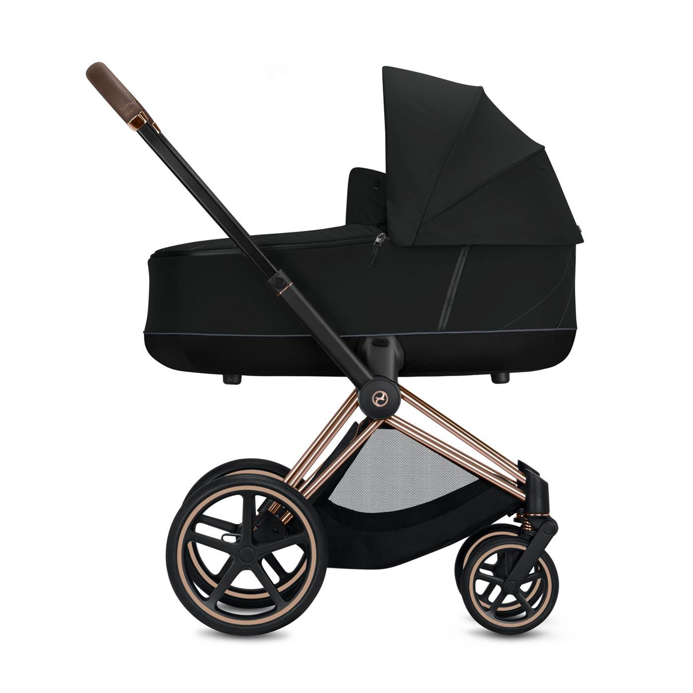 Cybex Priam Kinderwagen in Schwarz oder Blau, inkl. Sportsitz und Wanne