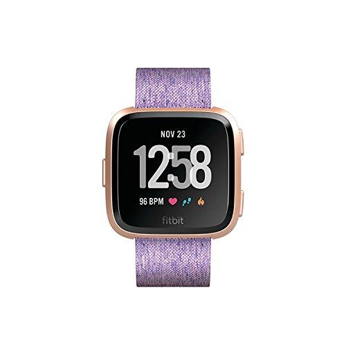 Amazon: Fitbit Versa Special Edition Lavender Smartwatch, Herzfrequenzmessung, 4+ Tage Akku, Wasserabweisend bis 50m Tiefe, Fitbit Pay