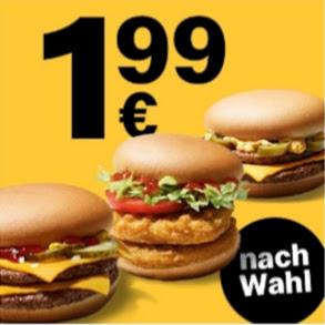 Doppelburger nach Wahl / Big Vegan TS sowie McDouble ChiliCheese Spiegelei 2,49 € via McDonalds App
