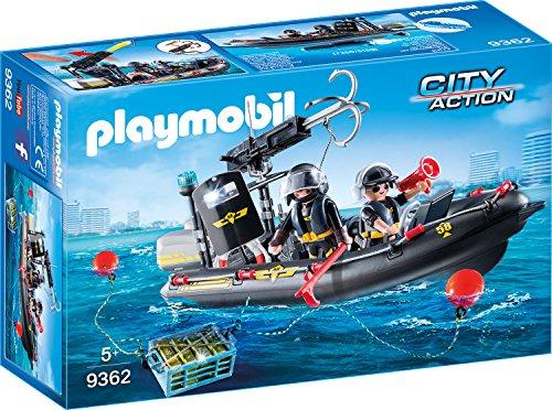 PLAYMOBIL City Action SEK-Schlauchboot - 9362 [Amazon Prime]