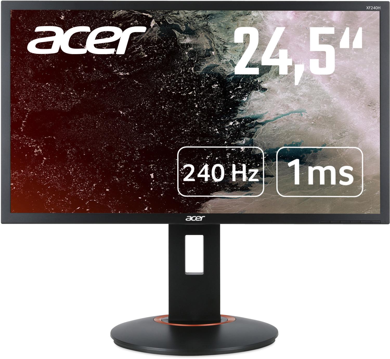 "[cyberport] Acer XF250QC - 24,5"" FHD 240Hz TN Monitor (1ms, 400cd/m², AMD FreeSync, G-Sync kompatibel, LFC, ergonomisch, VESA, 89ppi)"