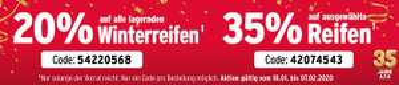 ATU Winterreifen-Sale 20% - 35% auf Reifen/Winterreifen plus weitere Aktionen