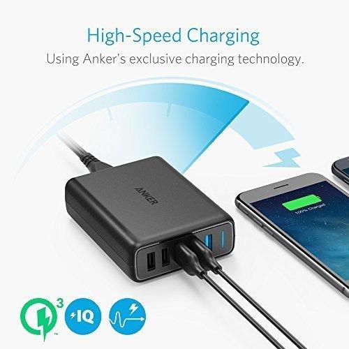 Anker PowerPort Speed 5, 63W 5 Port USB Ladegerät, Netzteile mit Quick Charge 3.0 & Power IQ