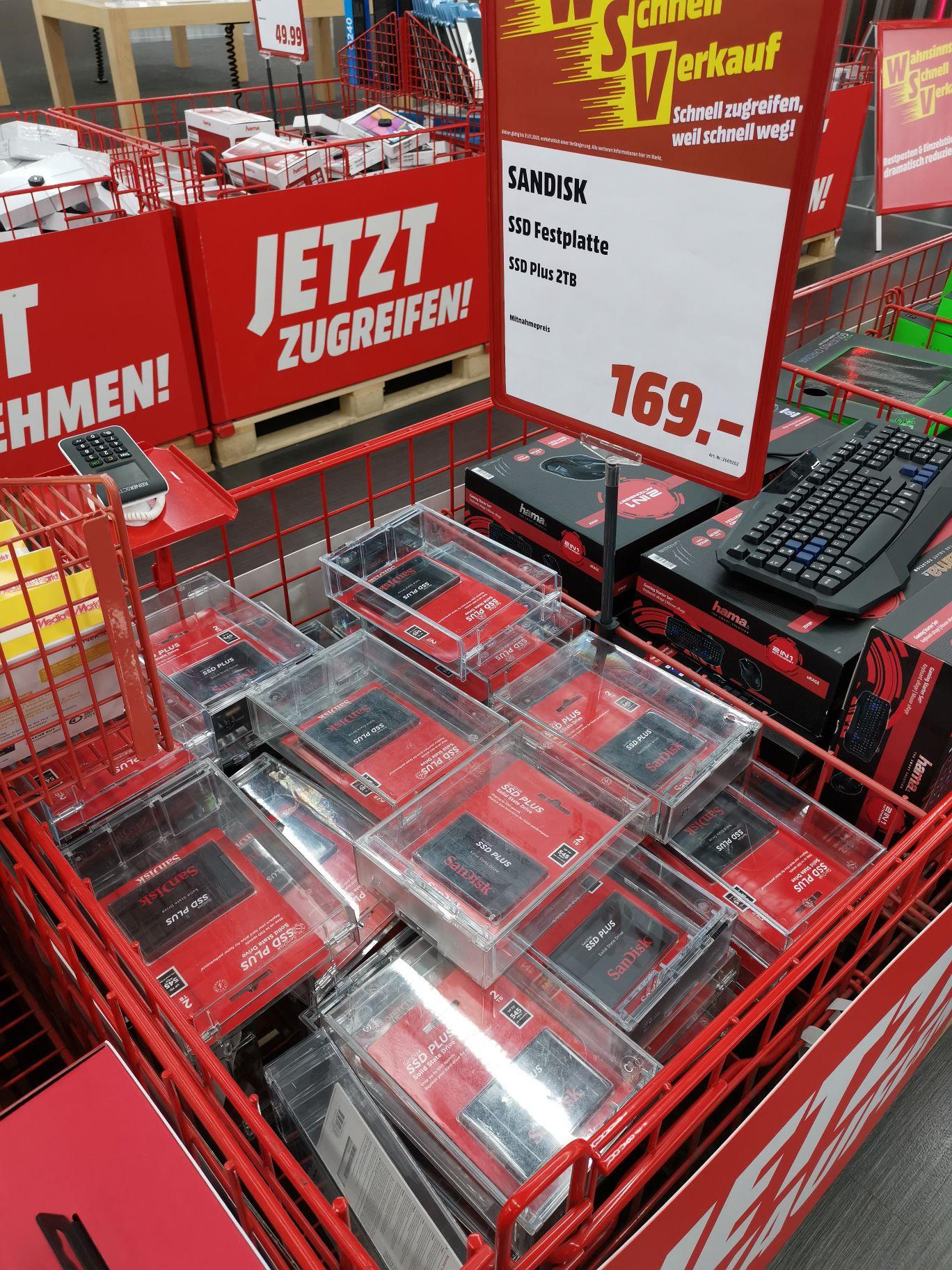 [Lokal] SSD SanDisk Plus 2 TB Media Markt Berlin Alexa