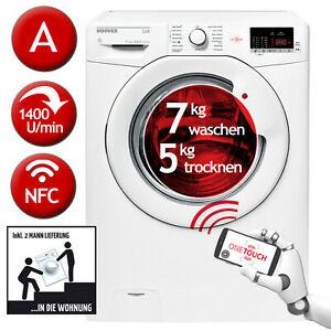 Hoover HLW G475D-84 Waschtrockner - 7kg waschen, 5kg trocknen, NFC-Bedienung, Lieferung bis in Wohnung/Keller