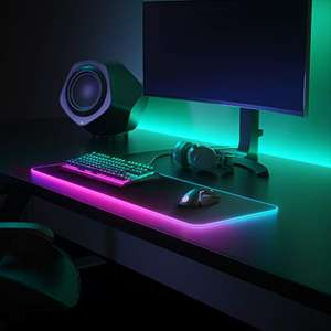 SteelSeries QcK Gaming Surface schwarz XL - RGB-Gaming-Mauspad aus Stoff