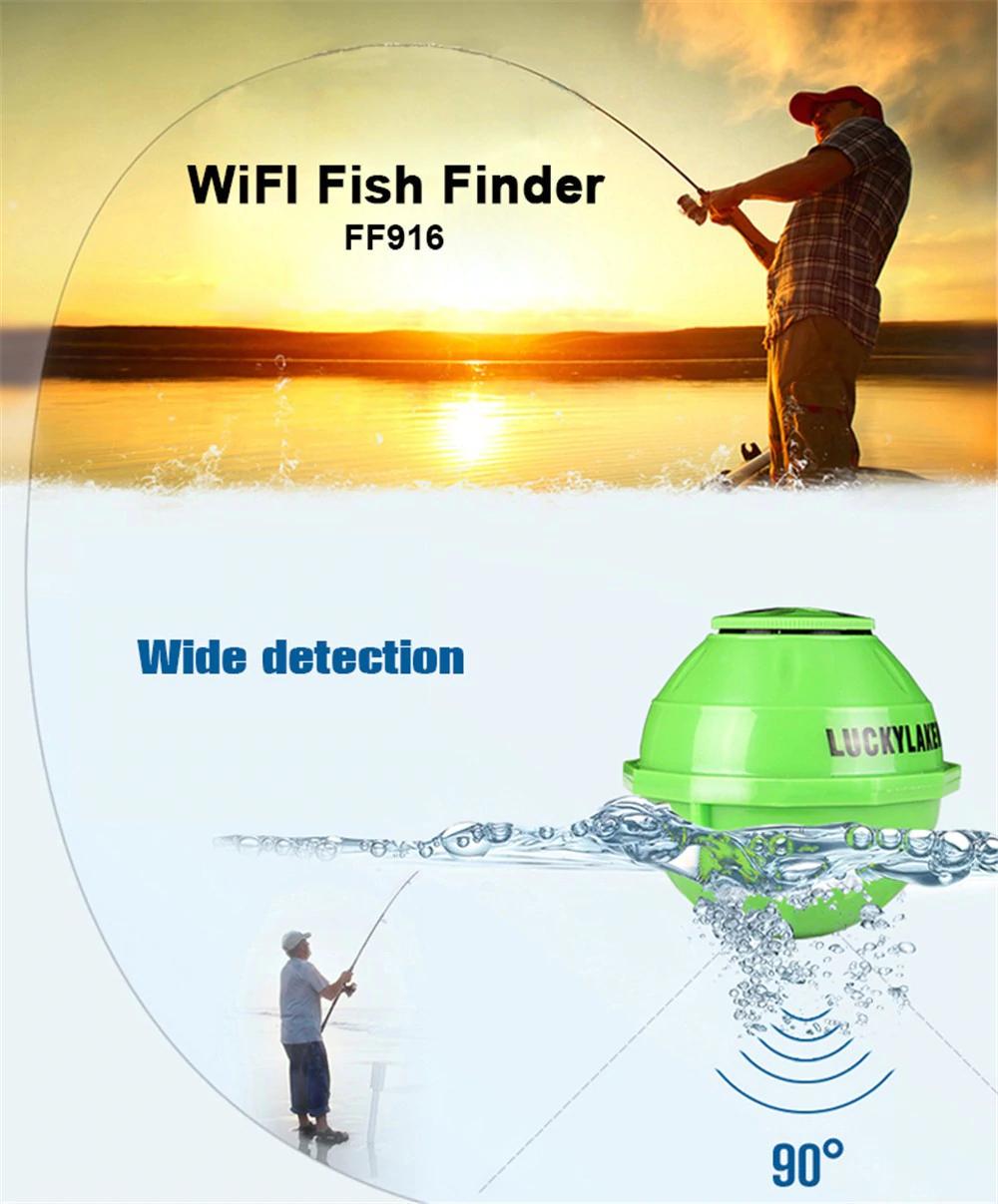 WI-FI Fisch Finder mit APP (iOS/Android), Echolot, Sonar, 50m Reichweite, kostenloser Versand aus China