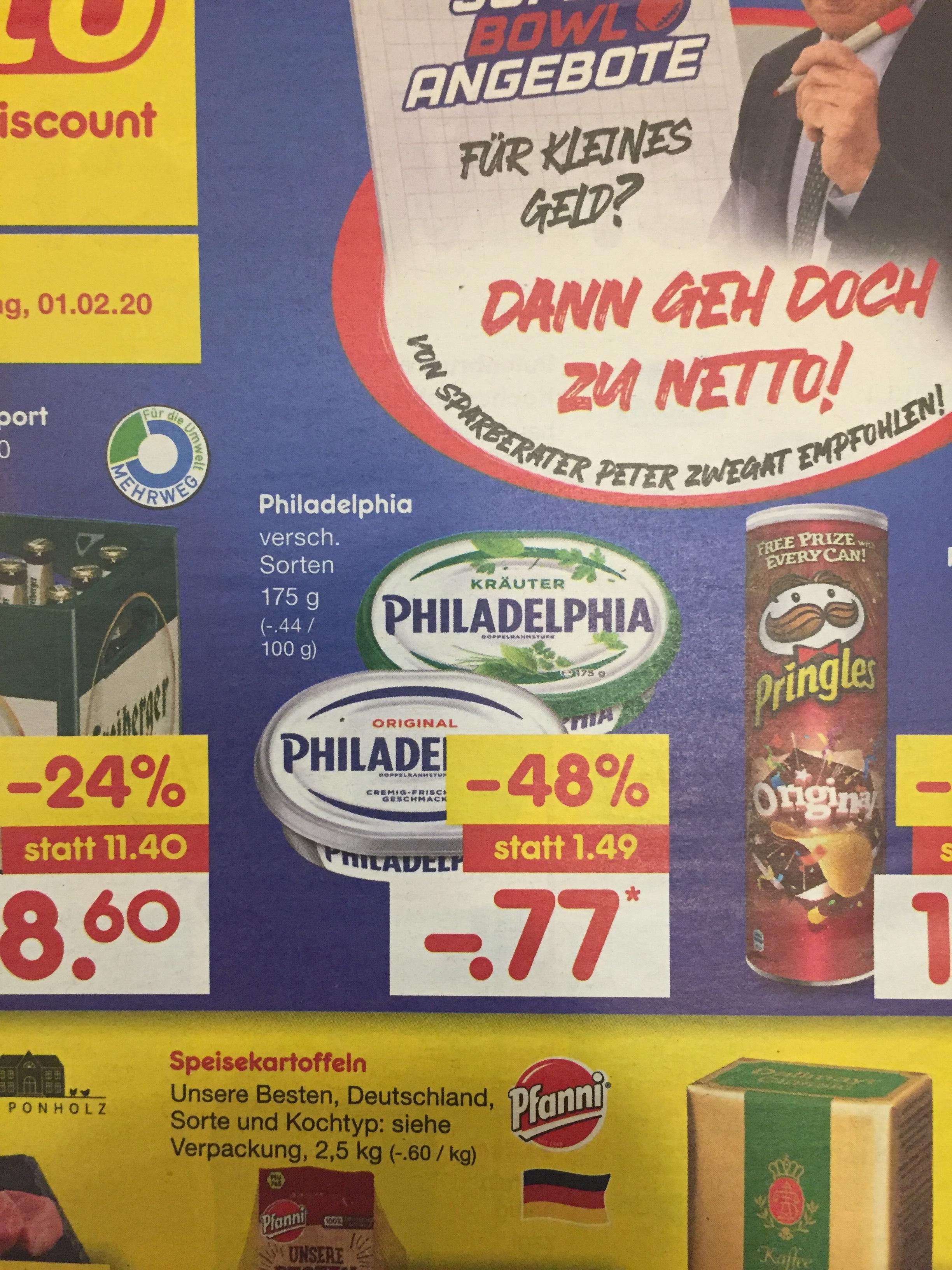 ~Netto Markendiscount~ Philadelphia im Angebot und Reebate gibt 0,30€ Cashback