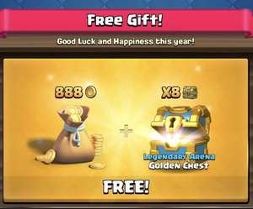 [Clash Royale] 8 kostenlose Goldtruhen + 888 Gold
