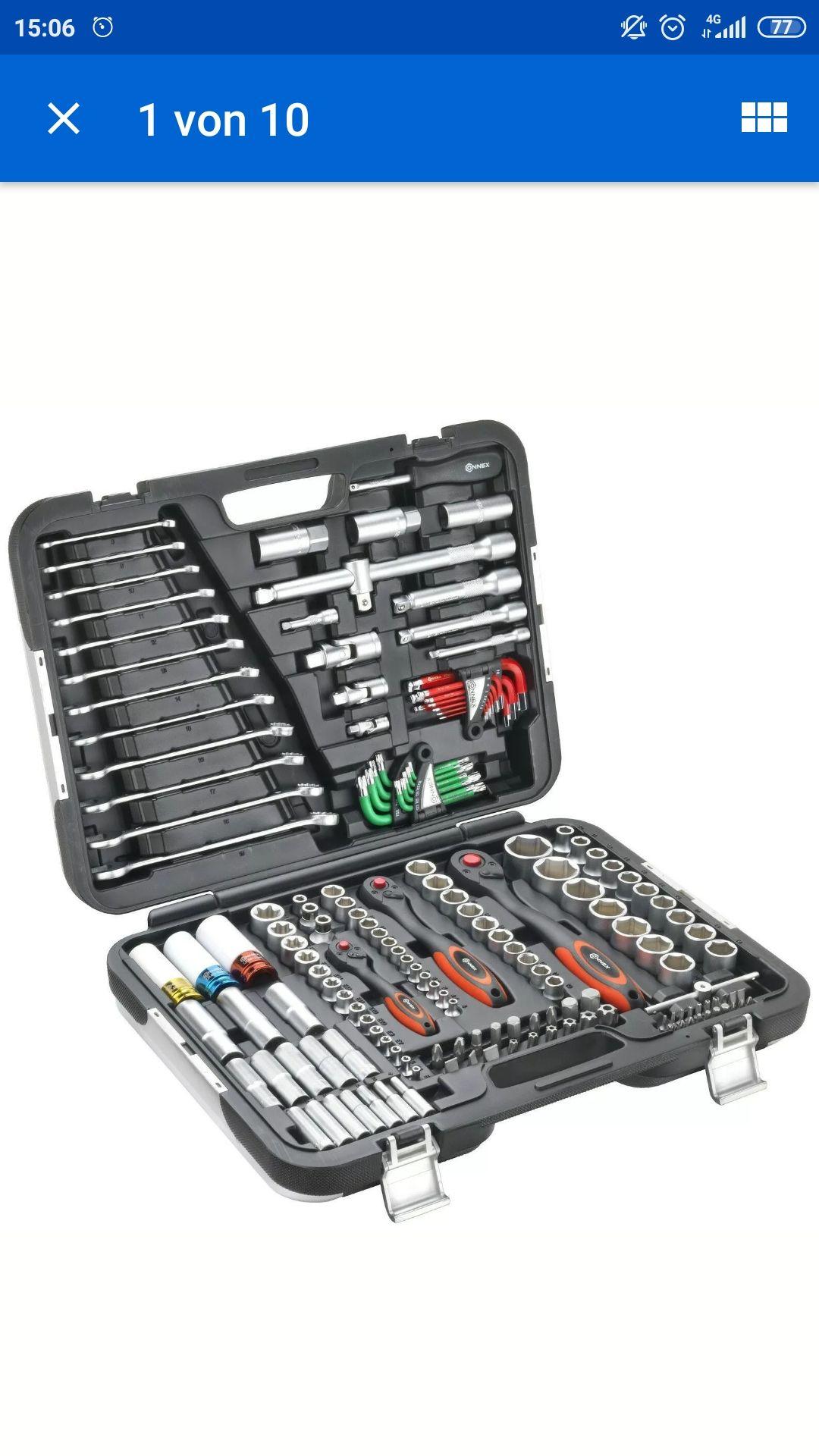 [ebay] CONNEX Premium - Werkzeugkoffer / Steckschlüsselset KFZ, 160-teilig,COXBOH600160