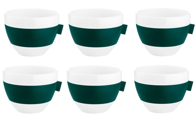 6er Set Koziol Thermotasse Aroma M in weiß / grün, je 270ml