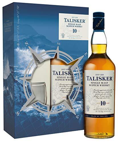 Talisker Single Malt Whisky (1 x 0.7 l) inkl. Geschenkpackung mit 2 Gläsern [Amazon Prime]