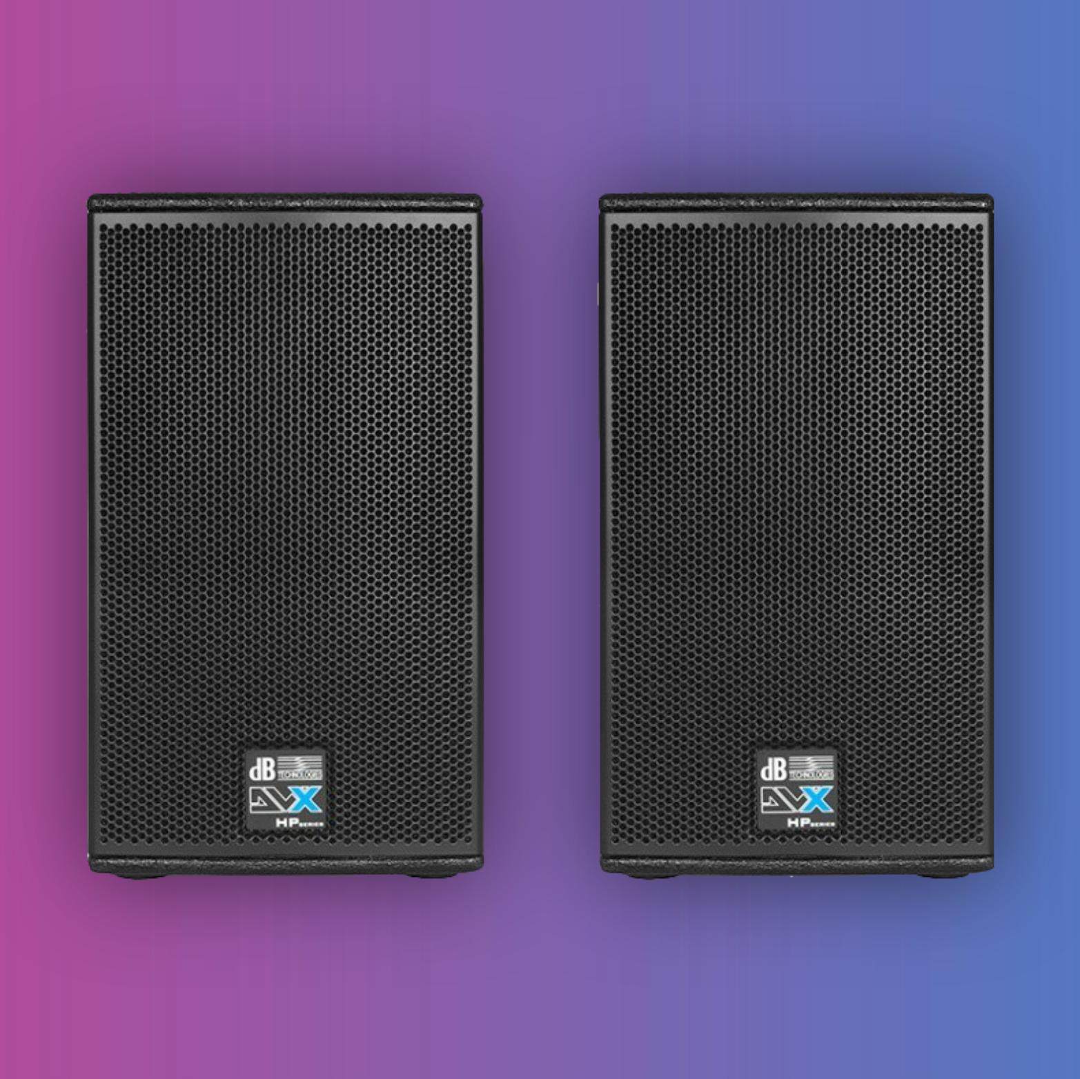 dB Technologies DVX D8 HP: PA-Lautsprecher (Paarpreis, 400W RMS, 2,5cm Hochtöner, 20,32cm Tieftöner, 125dB Max SPL, 90°x70° Horn)