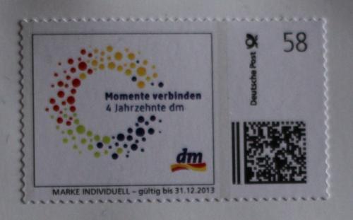 [LOKAL BRIEFKASTEN] dm verschickt gratis Briefmarken per Post