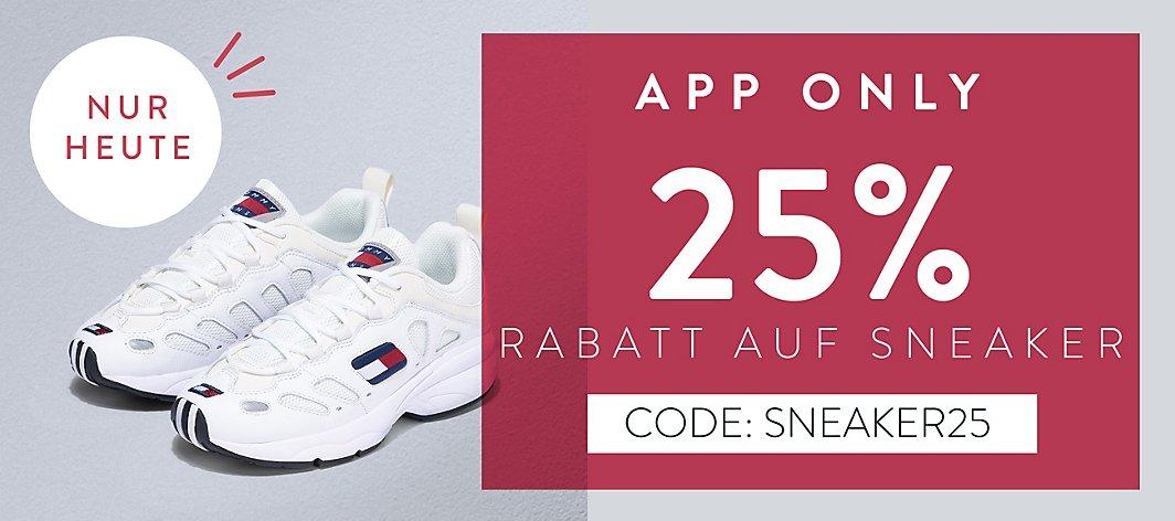 25% zusätzlicher Rabatt auch auf bereits reduzierte Sneaker @ Mirapodo (APP Only) NUR HEUTE