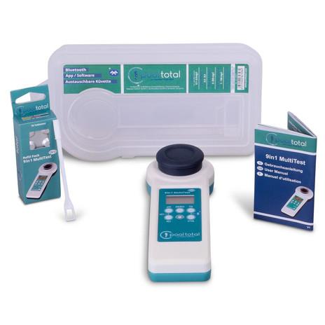 Photometer (Wassertester) Pool Total 9 in 1 MultiTest Pro (Bluetooth 4.0 zur App-Anbindung, IP67, inkl. 70 Reagenztabletten & Kunststoffbox)