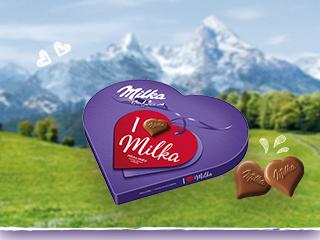 [Müller] I Love Milka Pralinés Großes Geschenkherz 30 Pralinen für 2,79