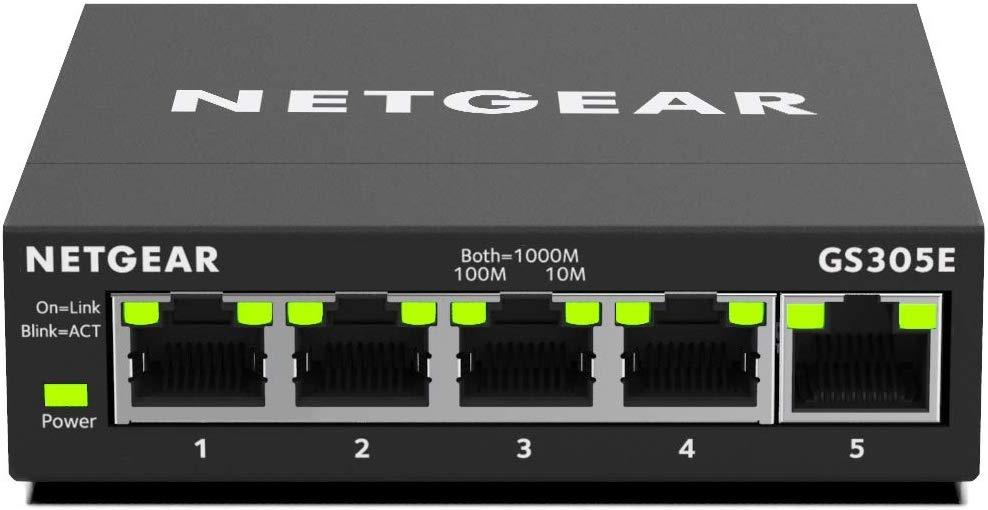 NETGEAR GS305E 5-Port Gigabit Ethernet LAN Switch Smart Managed Plus