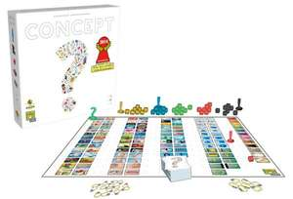 Brettspiel Concept (BGG 6.9, 4-12 Spieler, ab 10 Jahren, ~40min, nominiert zum Spiel des Jahres 2014)