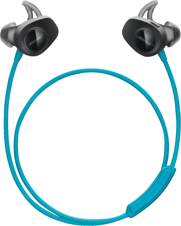 Bose SoundSport Wireless In-Ears hellblau (Bluetooth, NFC, ~6h Akkulaufzeit, Mikrofon, Kabelfernbedienung, Bose Connect App)