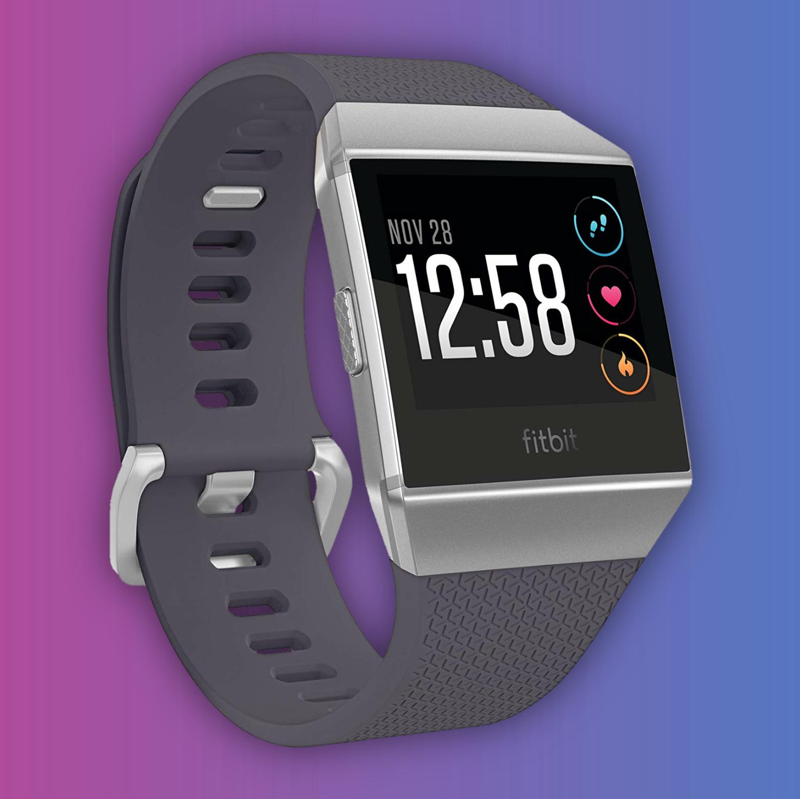 Fitbit Ionic: Smartwatch (GPS/Glonass, Herzfrequenzmessung, Musik-Speicherplatz, NFC: Kontaktlos Zahlen)