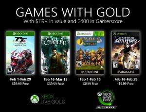 (Games with Gold Februar) Call of Cthulhu (Xbox One), Star Wars Battlefront (Xbox), TT Isle of Man & Fable Heroes