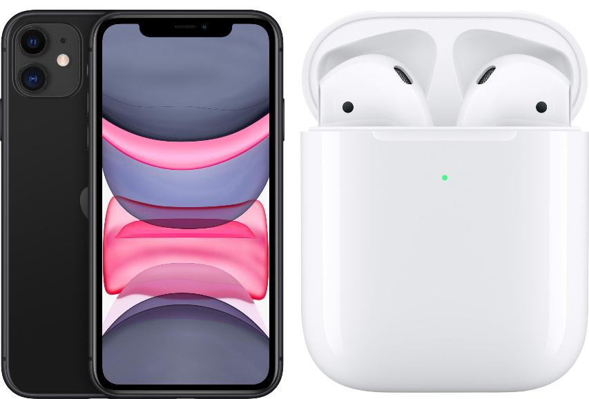 [Vodafone-Netz] Apple iPhone 11 (128GB) + AirPods (2. Generation) für 49€ Zuzahlung mit klarmobil Allnet Flat (12GB LTE) mtl. 44,99€