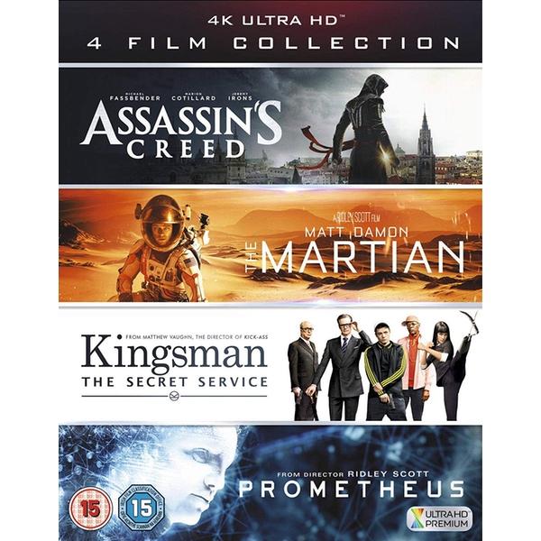 Assassin's Creed + Der Marsianer + Kingsman + Prometheus (4x 4K Blu-ray) für 20,99€ (Shop4de)