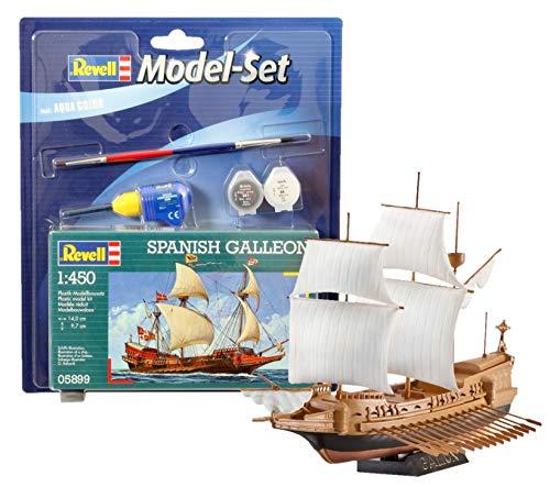 Revell Modellbausatz Segelschiff - Spanish Galleon im Maßstab 1:450, Level 3, Model-Set mit Basiszubehör für 6€ (Amazon Prime & Media Markt)