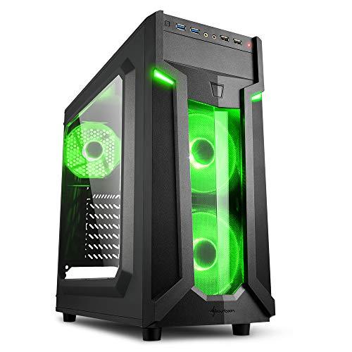 Sharkoon PC Gehäuse VG6-W Grün ATX