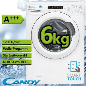 Candy CS34 1262D3-S Waschmaschine (A+++, Display, 6 kg, 1200Upm, NFC-Bedienung)