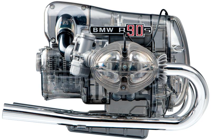 Modellbausatz BMW R 90 S-Boxermotor (Maßstab 2:1, 200 Teile zum Stecken und Schrauben, Soundmodul, LED-Zündfunken, 120-seitiges Begleitbuch)