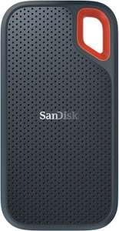 SanDisk Extreme Portable SSD 1TB externe 2,5 Zoll Festplatte (550 MB/s, USB-C, AES-Verschlüsselung, wasserfest, stoßfest) grau