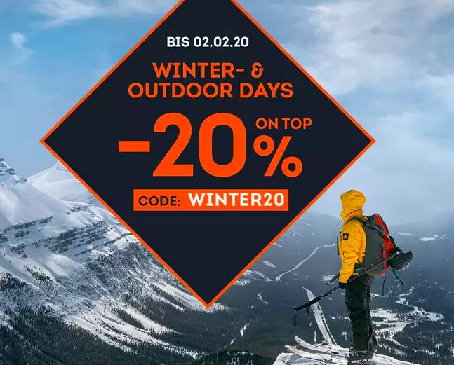 20% Rabatt auf über 2.000 Wintersport- und Outdoorartikel (Sale inkl.) bei SportScheck