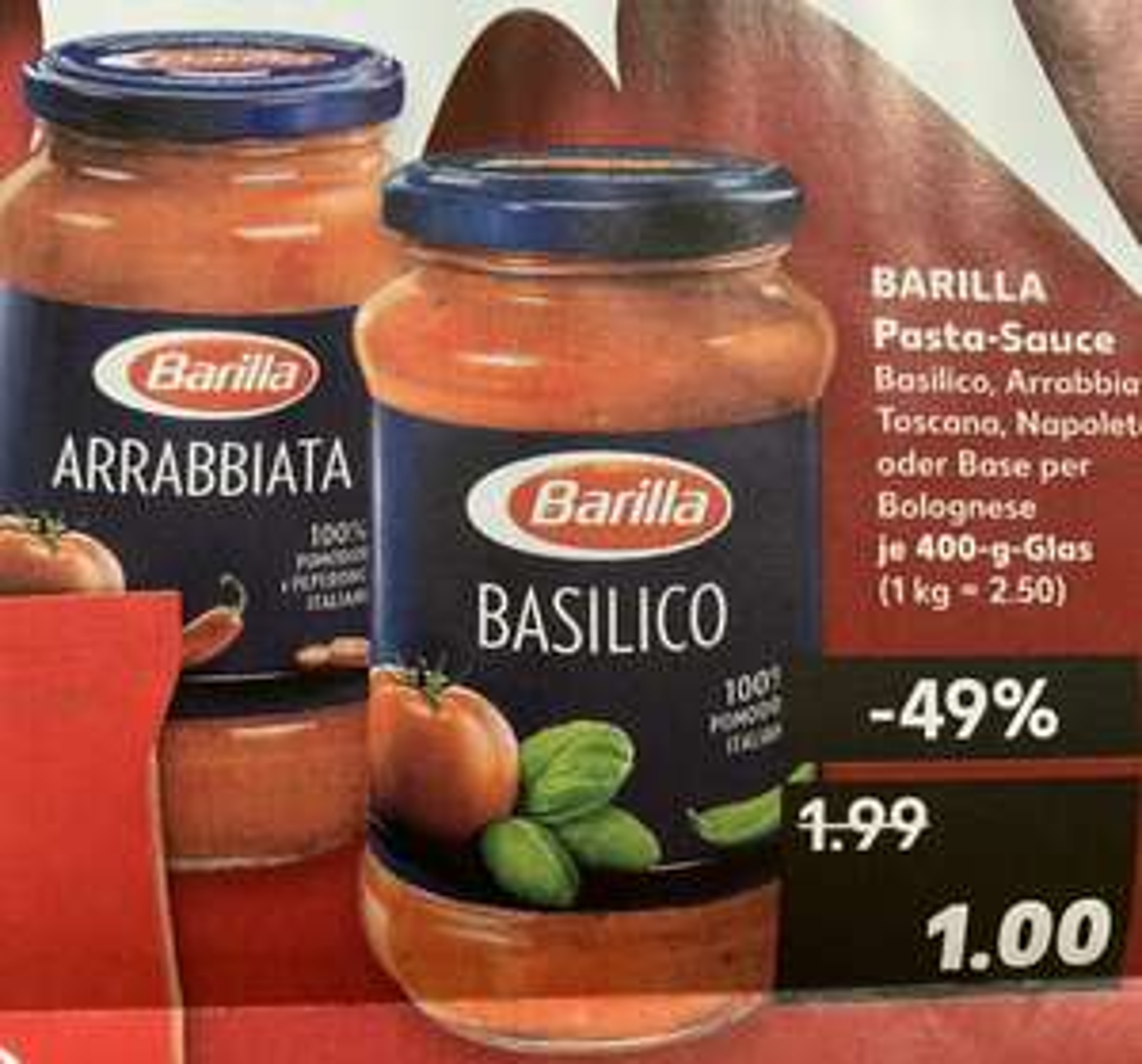 Barilla Pasta Sauce bei Kaufland