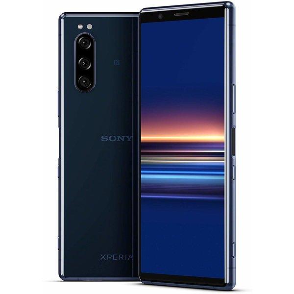 "Sony Xperia 5 128GB Blue Dual-SIM blau/grau/rot - 6,1"" OLED, 21:9, Snapdragon 855, 6/128GB, AnTuTu 422k"