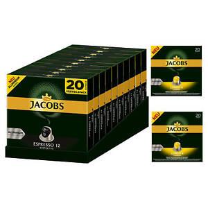 JACOBS Kapseln 200 Espresso Ristretto + 40 Lungo Leggero Nespresso®* kompatibel