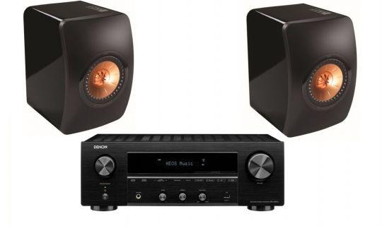 [Denon + KEF] Stereo Receiver Denon DRA-800H (HEOS, 2x100W @8Ω) + Regallautsprecher KEF LS50 (100W, 8Ω, 85db, >47Hz)