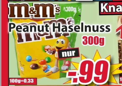 [Regional OWL Magowsky] M&M´s Peanut-Haselnuss in der 300g Tüte für nur 0,99€