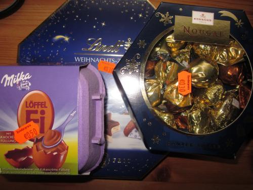 [Lokal Hannover-Badenstedt]Lindt/Milka/Niederegger-Weihnachtssüßwaren für 30-50ct.!