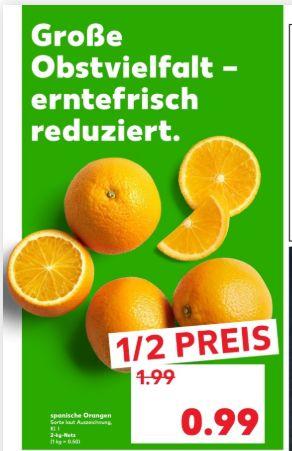 [Regional Kaufland Berlin] 2KG Netz Spanische Orangen für 0,99€ / 1KG Roggenmischbrot für 0,49€