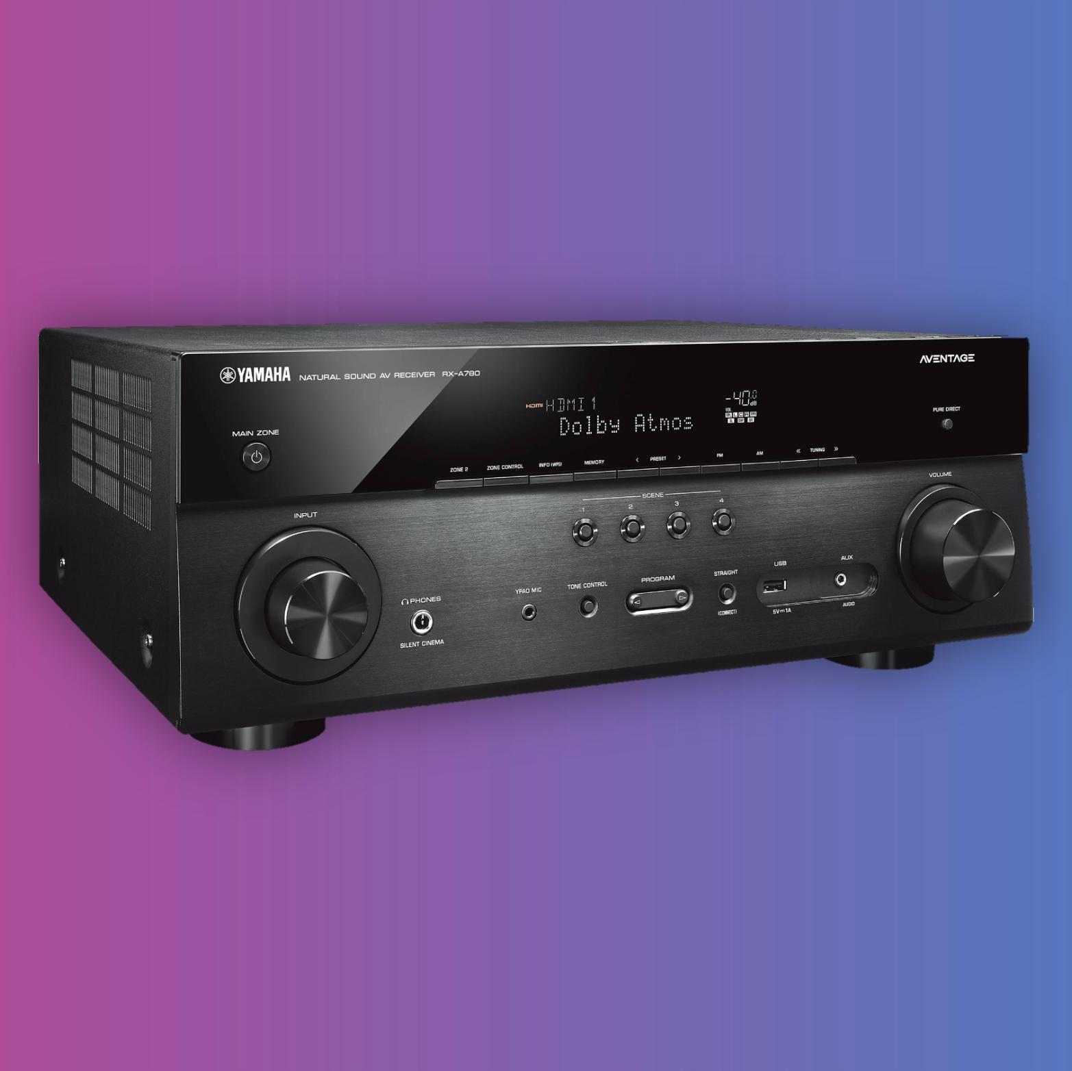 Yamaha RX-A780: AV-Receiver (7-Kanal, 7x 95W/8Ω, MusicCast Multiroom, 7x HDMI)