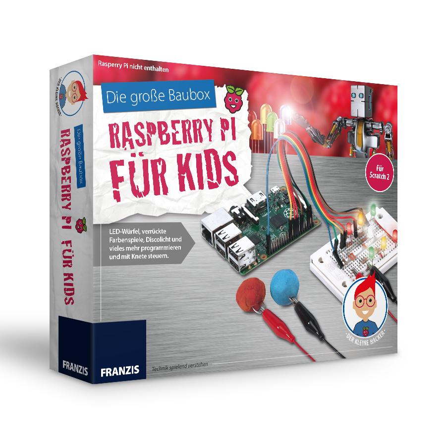 FRANZIS Die große Baubox: Raspberry Pi für Kids (nur Zubehör, kein Raspberry Pi enthalten!)