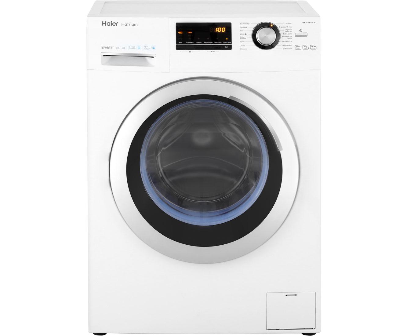 Haier HW70-BP14636 Waschmaschine, 7 kg, 1400 U/Min, A+++